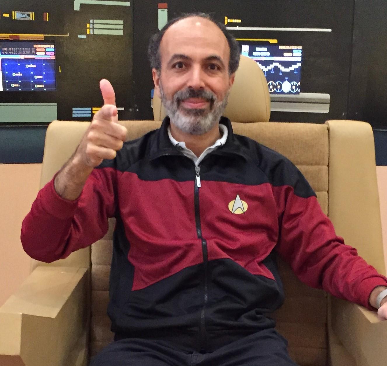 Mohamed Noor commanding the Enterprise